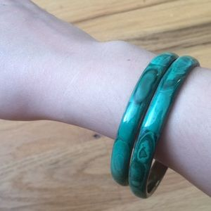 Jewelry - Turquoise green and gold bracelets set